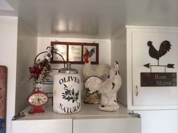 Chicken Themed Kitchen rooster themed kitchen decor from diy clay figurines beside