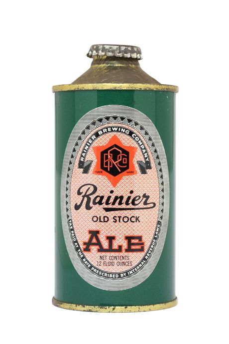 amazing old beer cans... rainier brewing co 1940s www.facebook.com/bargumbo