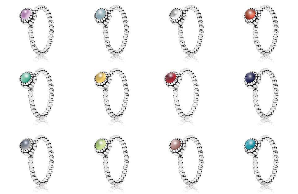 birthstone pandora rings pandora jewelry