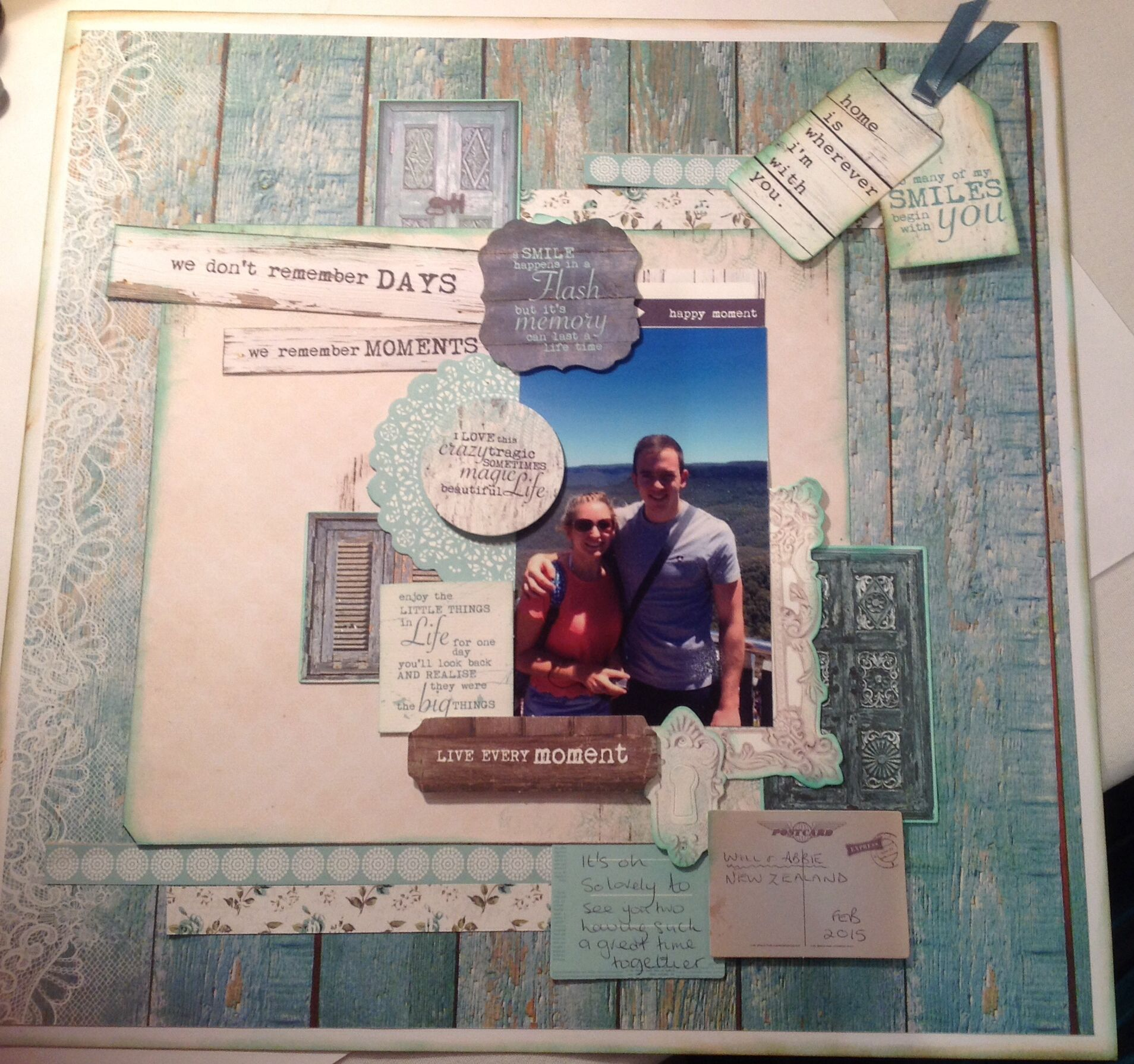 My second  layout for class I taught at ATDML retreat using Kaisercraft Blue Bay