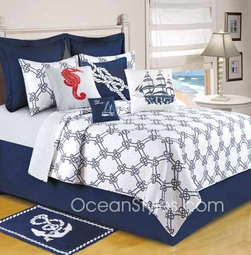 bedding | nautical bedding | oceanstyles | decor ideas