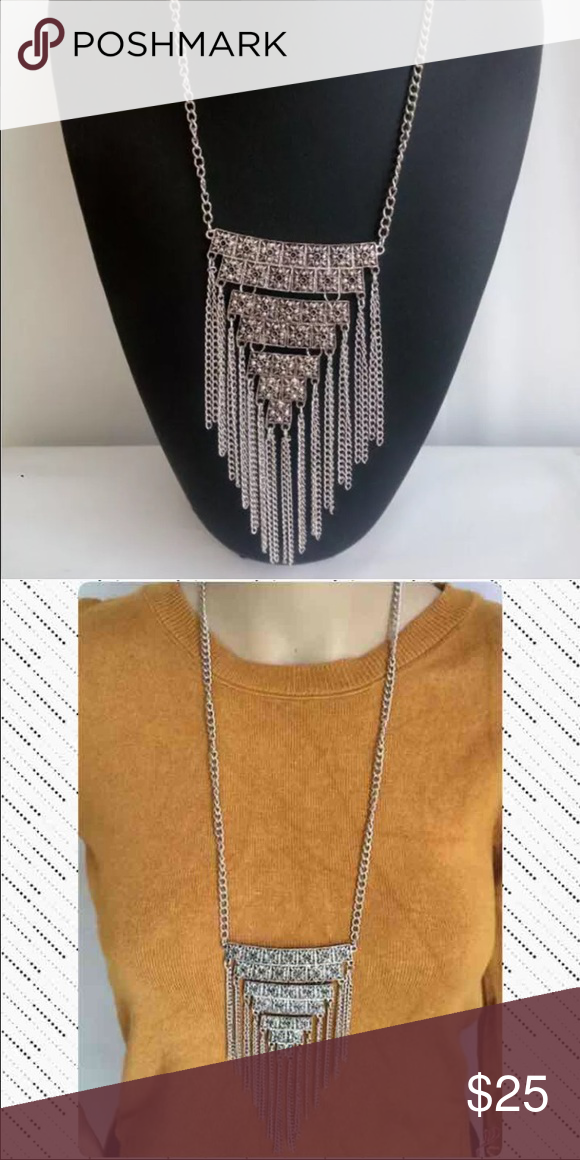Boho Pyramid Chain Necklace! NEW! Boutique | Necklace chain ...