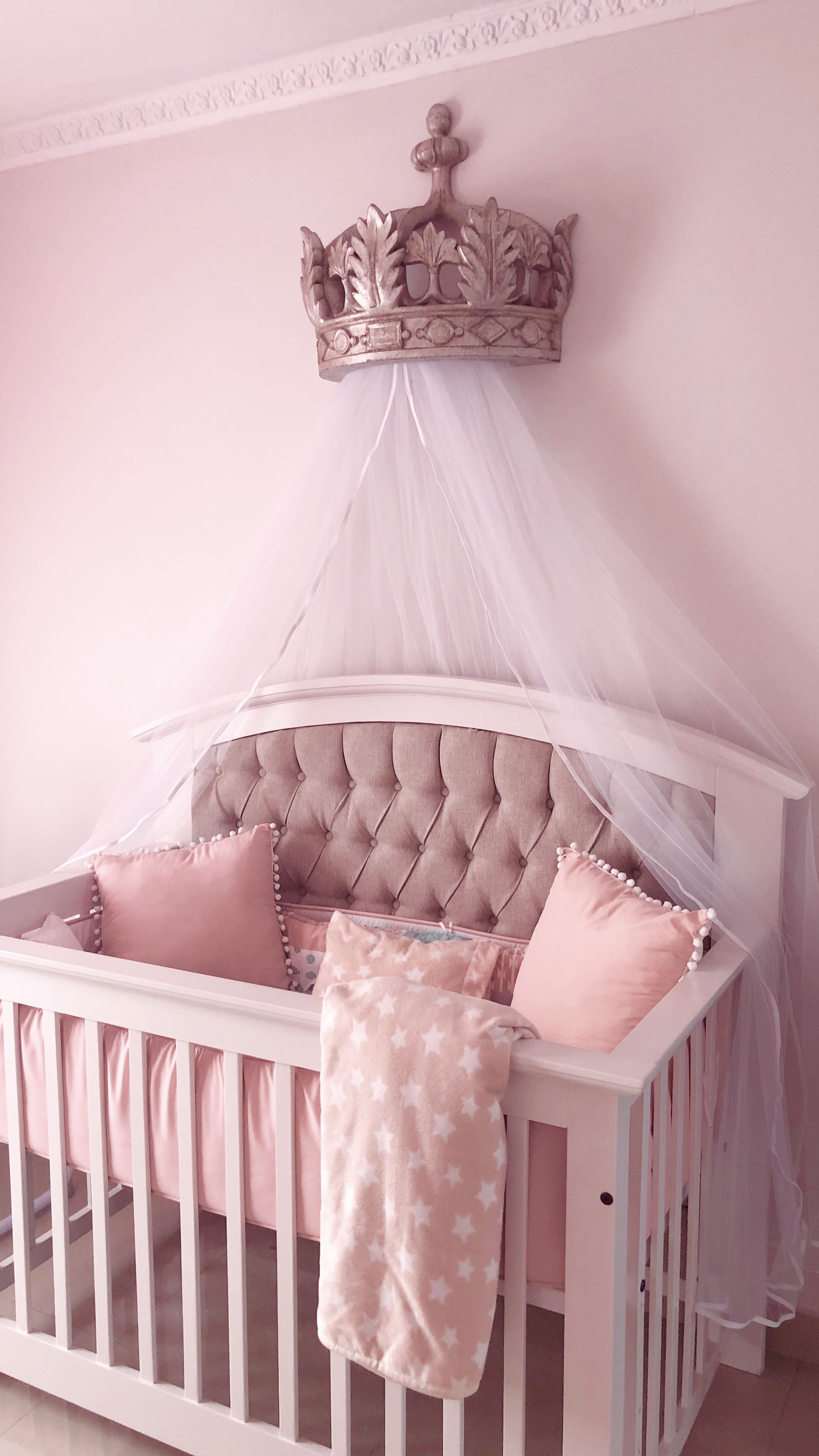 Princess nursery, crown canopy Baby girl room, Nursery