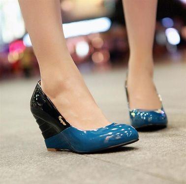 Sexy Color Hit Wedge High Heel Shoes on DressLuck.com