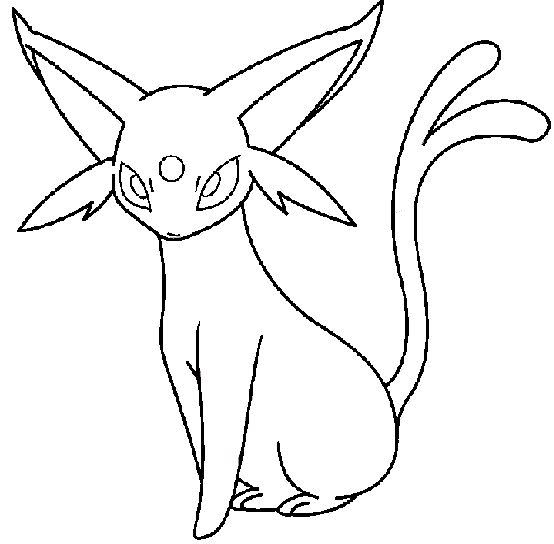 Pokemon Espeon Coloring Pages Crafts Pinterest Pokmon