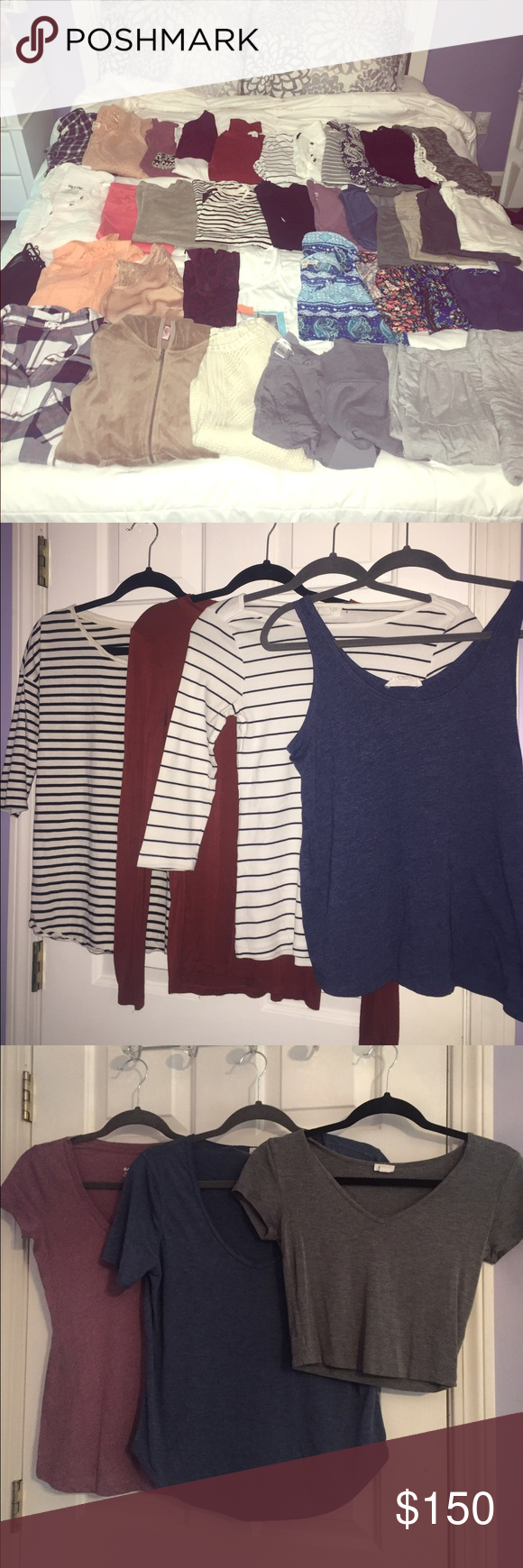 HUGE 37 PIECE LOT SIZE SMALL want a new wardrobe for back to school??? see additional photos!! all pieces size small a few mediums and xs mixed in but all fit size small and all in excellent used condition from a smoke free home!! NO TRADES but I am open to offers but please NO LOW BALLERS! Forever 21 Tops
