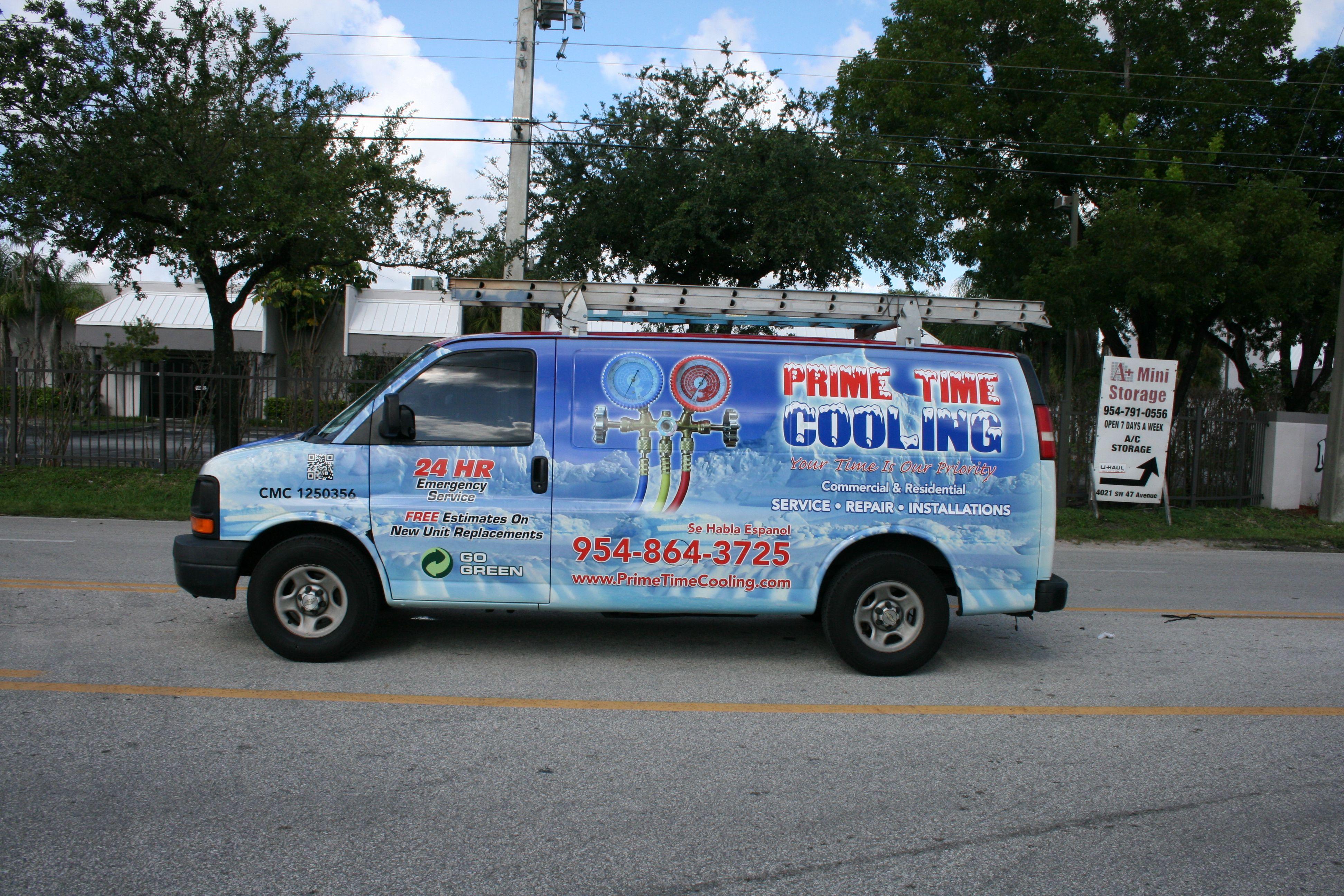 Air conditioning hvac commercial van graphics davie florida http carwrapsolutions com