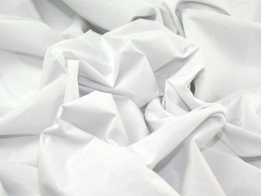 """99 """" inch wide White Poly cotton Sheeting Fabric BY THE METRE --251cm Wide Width in Home, Furniture & DIY, Cookware, Dining & Bar, Tableware, Serving & Linen 