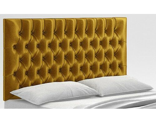 Cynthia Upholstered Headboard Rosdorf Park Upholstery Velvet Gold Size Small Single With Images Upholstered Headboard Luxury Headboard Headboard Designs
