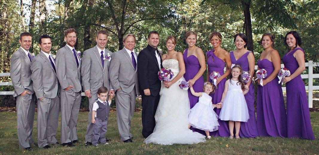 Grey And Purple Wedding Dresses Ideas