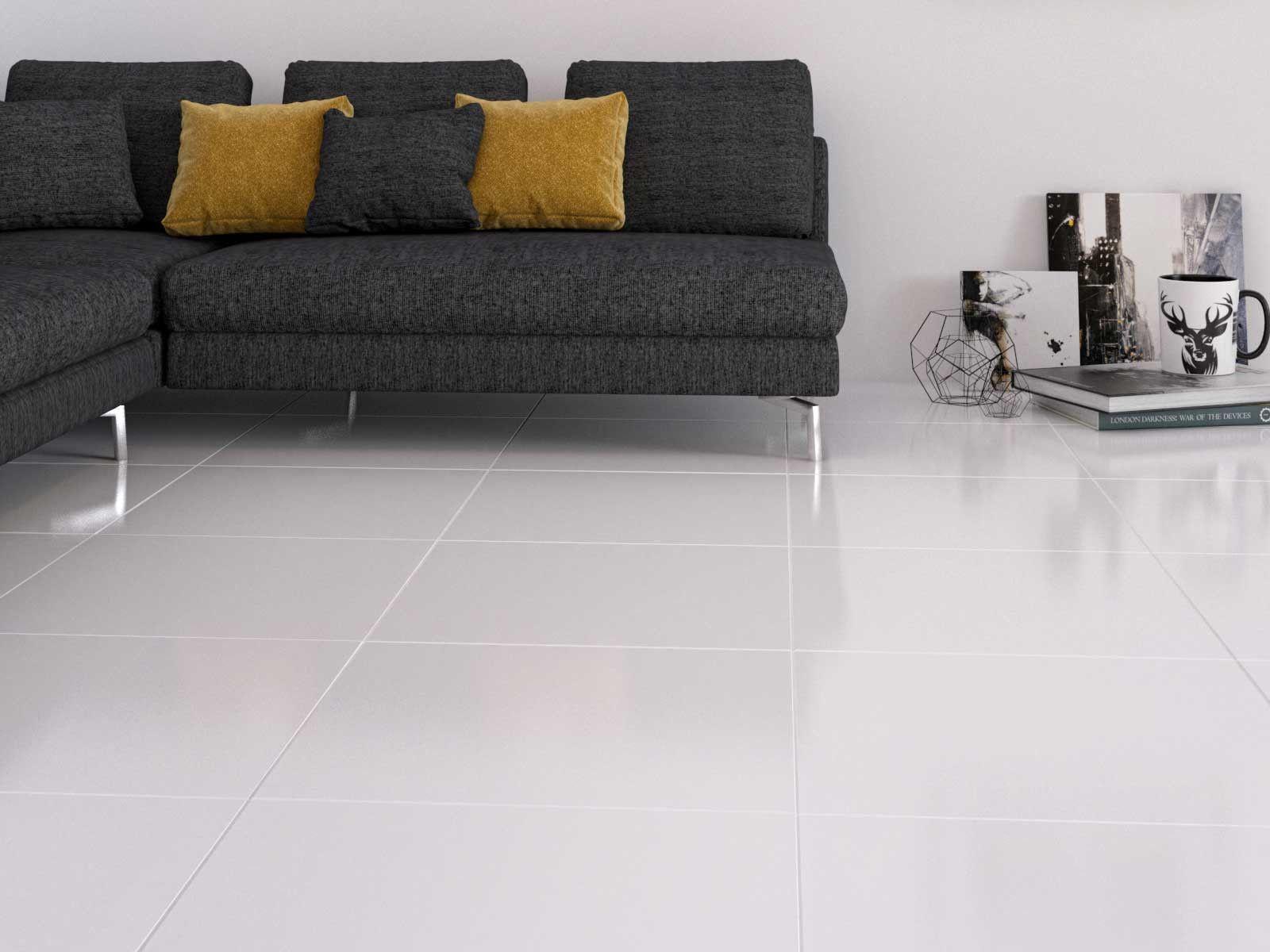Brilliant White Shiny Glazed Porcelain Floor Tile 600 X 600mm Ctm R249m2 Porcelain Flooring Porcelain Floor Tiles White Porcelain Tile