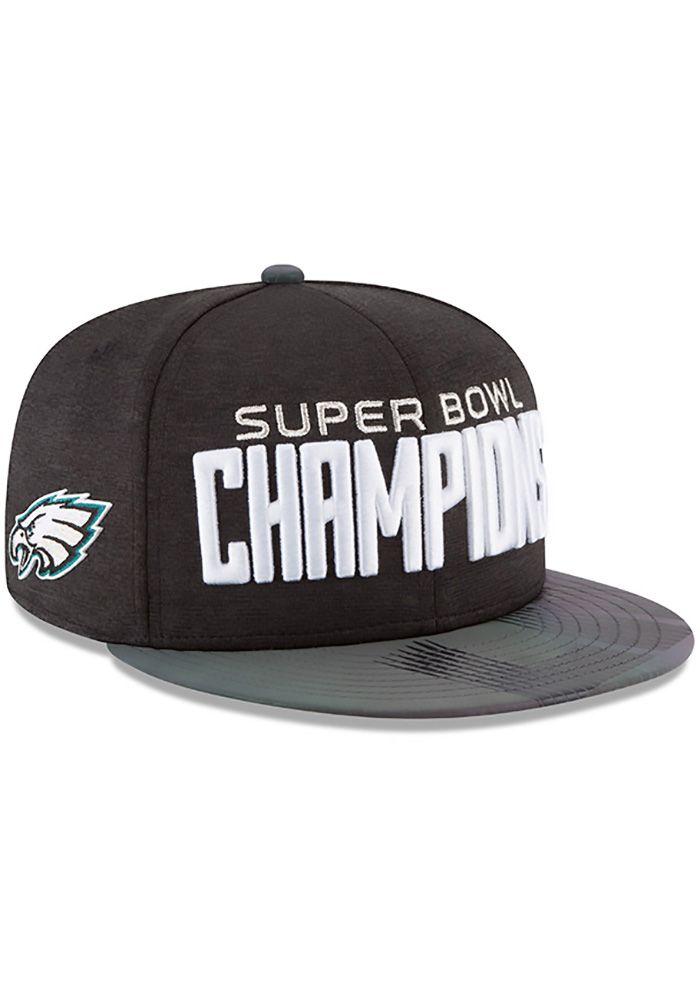 san francisco fc6c6 e6c25 New Era Philadelphia Eagles Black 2018 SB LII Champion Parade 9FIFTY Mens  Snapback Hat   PHILADELPHIA EAGLES   Eagles super bowl, Snapback hats, ...