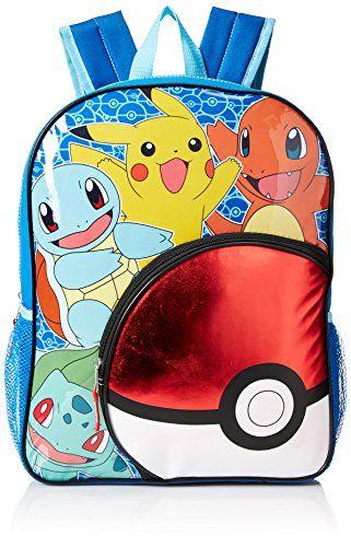 Pokemon Big Boys Pokeball Pocket 16 Backpack YellowBlue 16   This is an  Amazon Affiliate link ba6b2994df2d6