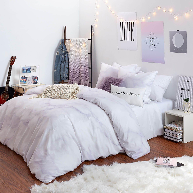 Lavender Marble Euro Sham  Bedroom decor, Small room bedroom