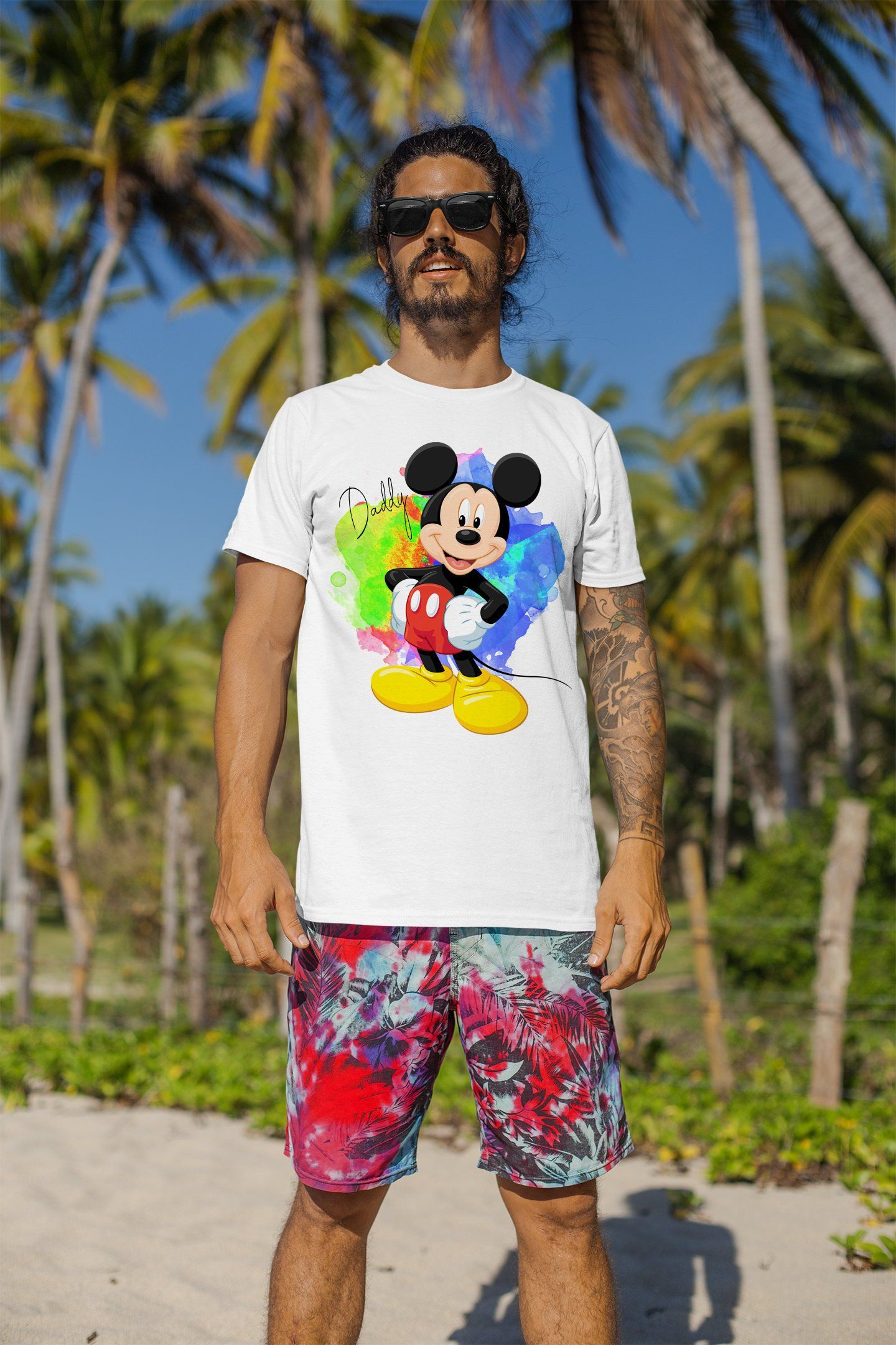 Colorful Watercolor Mickey Mouse T Shirt Disney Mickey Mouse