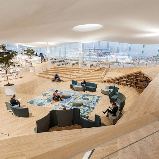 ALA Architects is part of architecture - Completed in 2018 in Helsingfors, Finland  Images by Tuomas Uusheimo  Oodi occupies a hugely significant site in central Helsinki facing the steps of the Finnish parliament building, the Eduskuntatalo across the