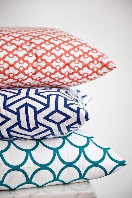 Graphic cushions.