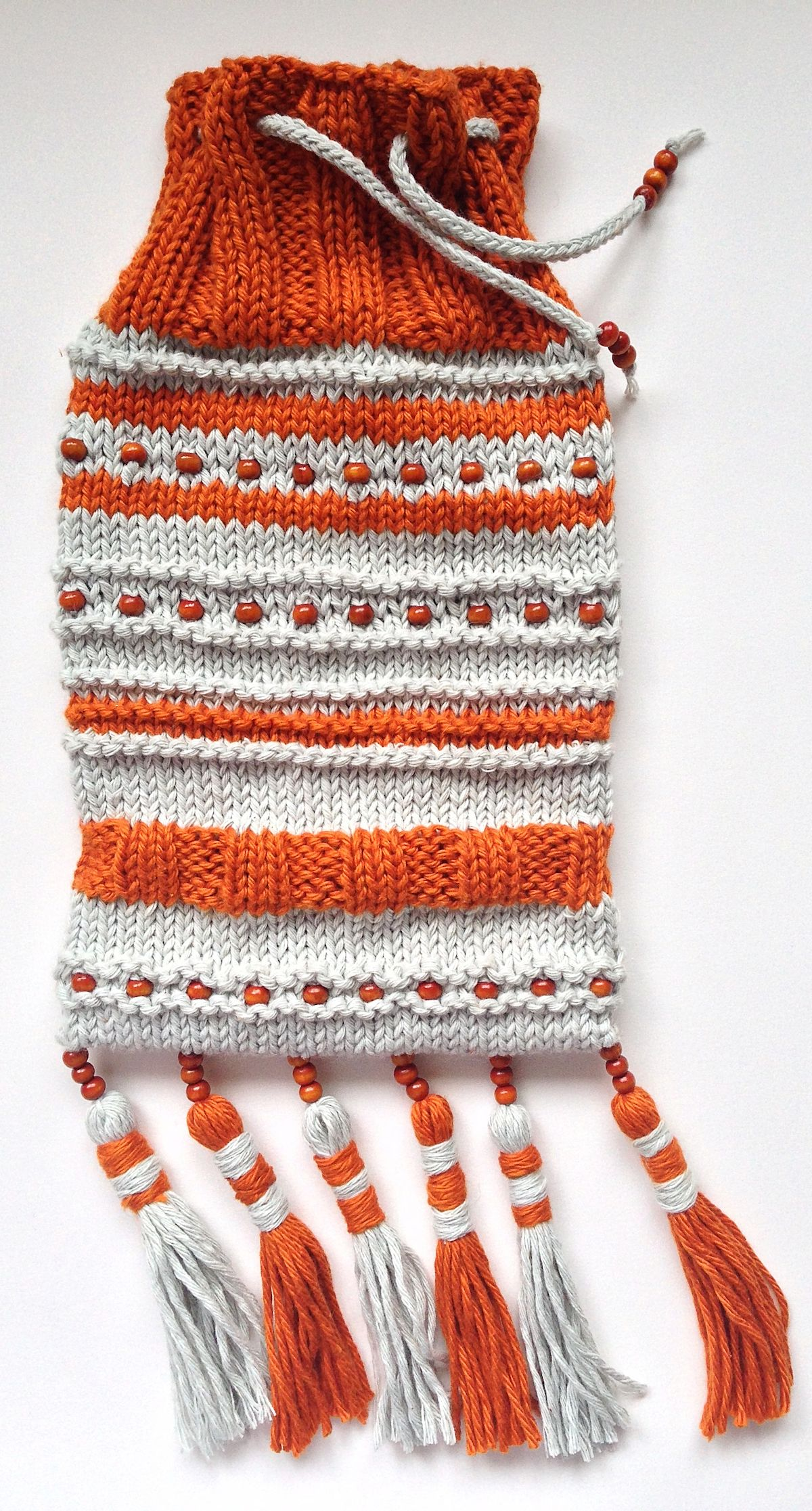 Drawstrings pouch with beads tassels bags and purses drawstrings pouch with beads tassels knitting pattern by maja this knitted pouch gives you the freedom to use whatever yarn and beads you want bankloansurffo Gallery