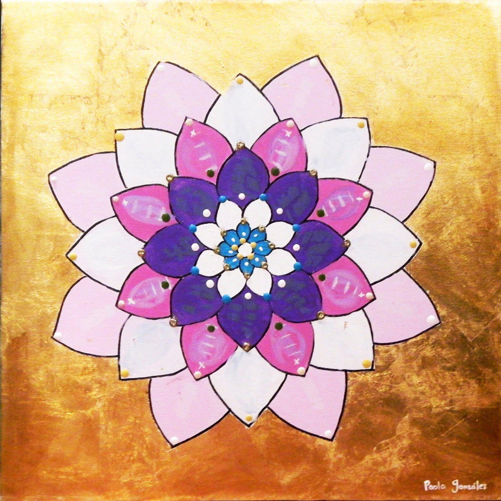 Lotus flower meaning is one of my lotus flowers acrylic over gold lotus flower meaning is one of my lotus flowers acrylic over gold leaf lotus flower izmirmasajfo