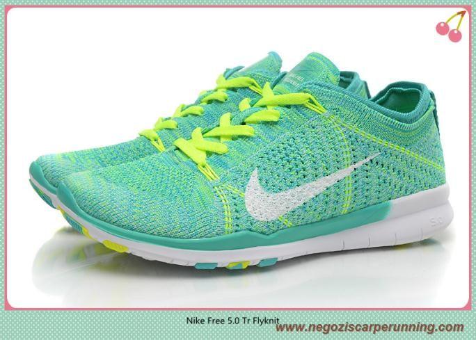 biología ocupado Quejar  scarpe da calcetto Uomo Verde Bianco 718785-300 Nike Free 5.0 Tr Flyknit -  [718785-300] | Nike free, Nike free shoes, Womens running shoes