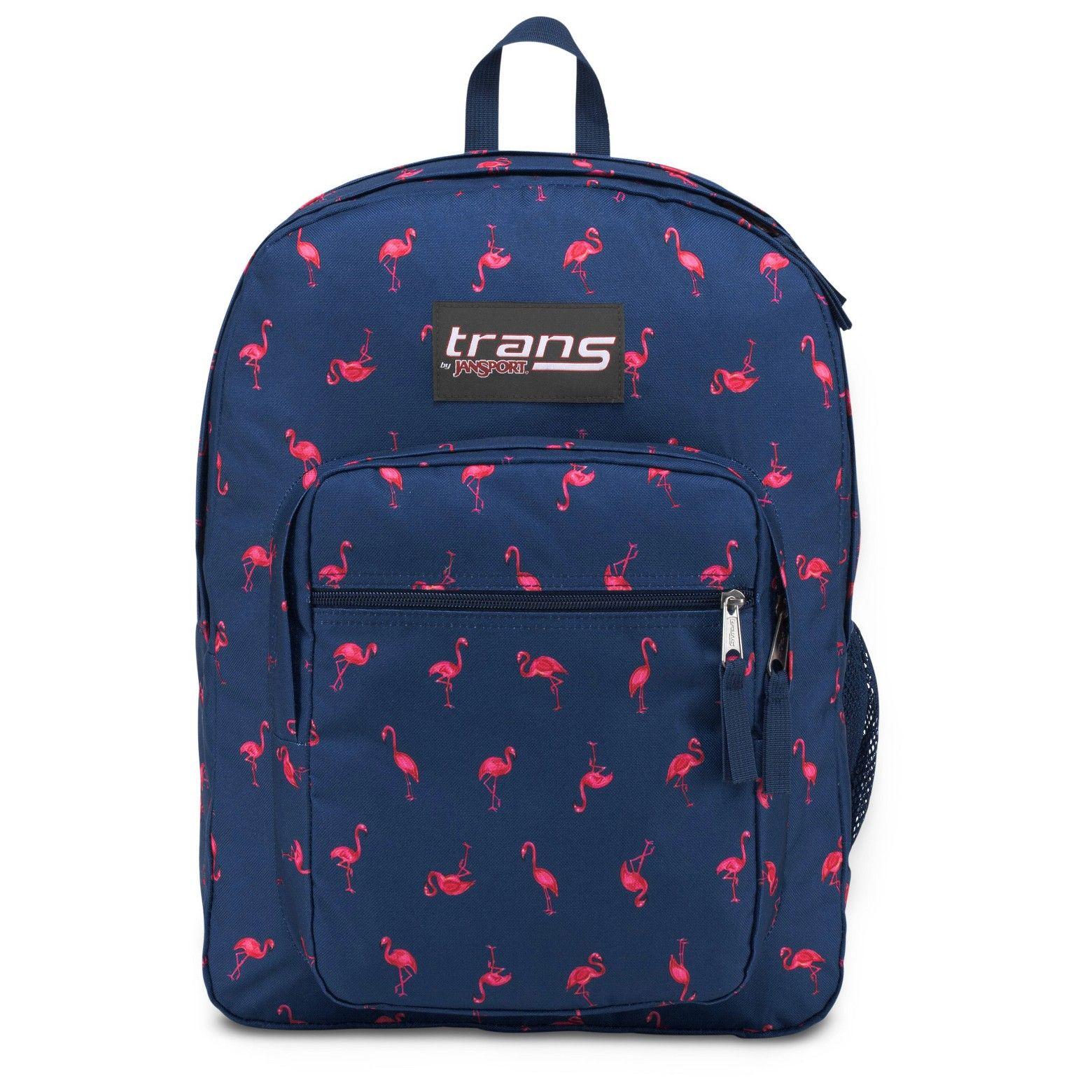 trans by jansport pink flamingo backpack navy blue jansport