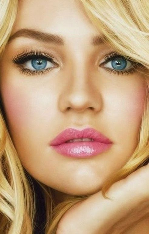 wedding makeup for blonde hair and blue eyes | Wedding ...