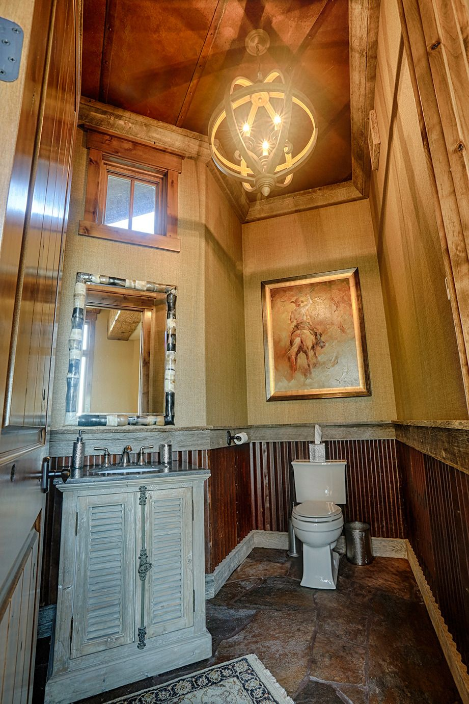 Custom Corrugated Wainscot Gives This Bathroom Old West Charm On A Small Budget Anyone Can Do