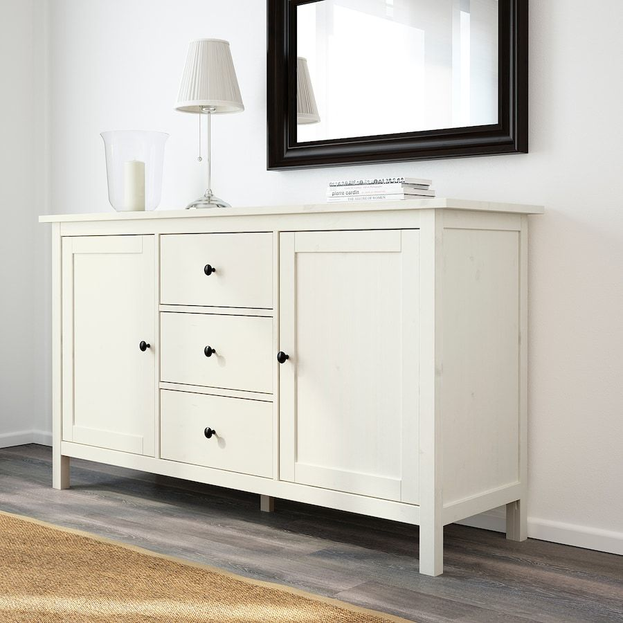 Hemnes Sideboard White Stain 61 3 4x34 5 8 Ikea In 2021 White Sideboard Hemnes Ikea Hemnes