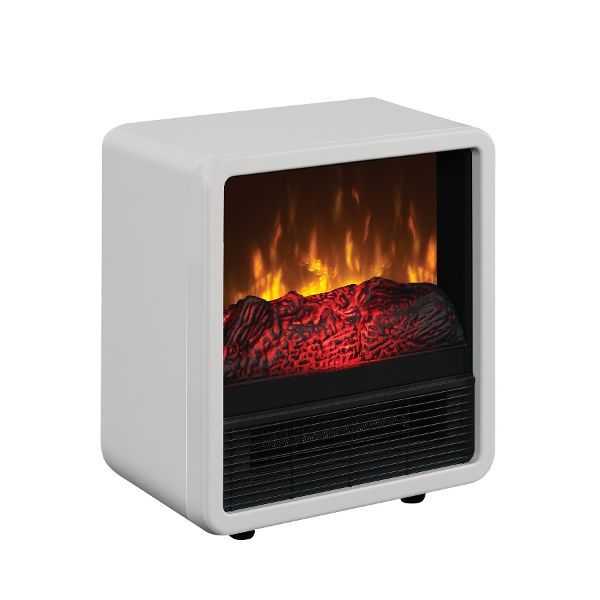 Portable Metal Heater White In 2020 Space Heater Electric Fireplace Heater Heater