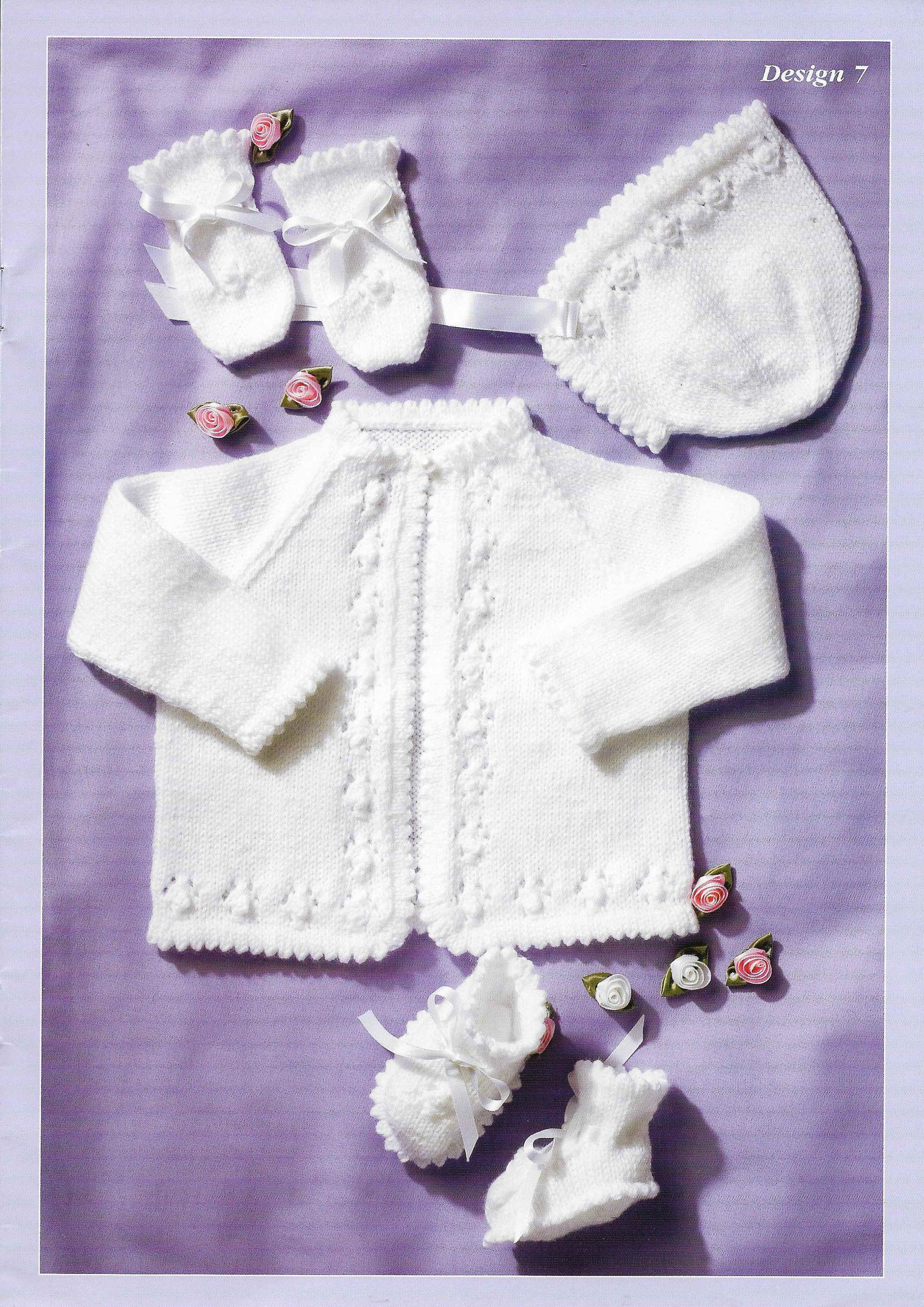 4 Ply Baby Matinee Set Knitting Pattern PDF Newborn Matinee Coat Cardigan  Baby Doll Premature Hat 12 - 22 inch 4 PLY Instant download by  Thecutepatternshop ... 34df0e662c68