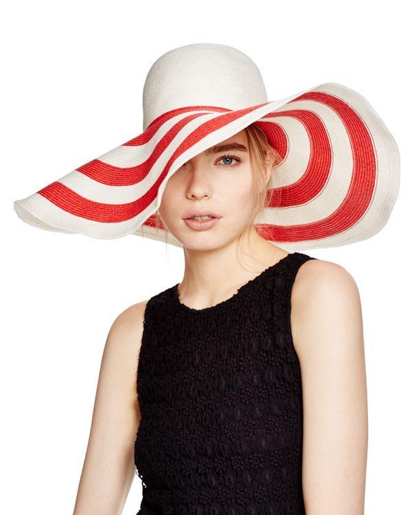 Aqua Two-Tone Striped Brim Hat