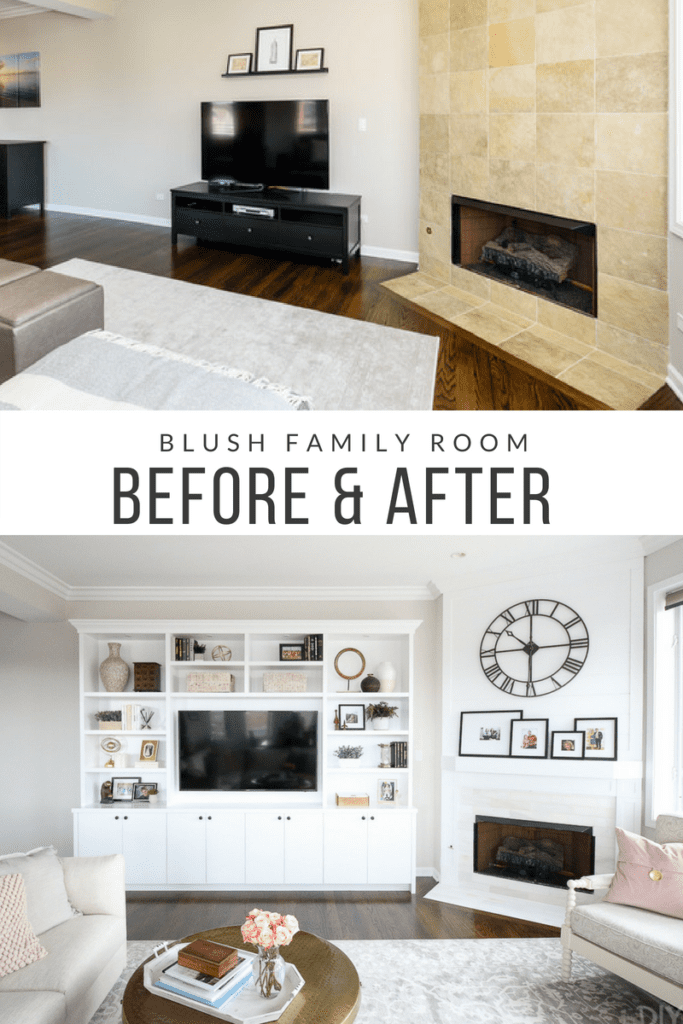 Photo of White + Blush Family Room in a City Condo | The DIY Playbook