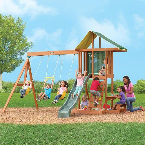 Big Backyard Swing Sets 499 big backyard springfield ii wood swing set - big backyard - toys