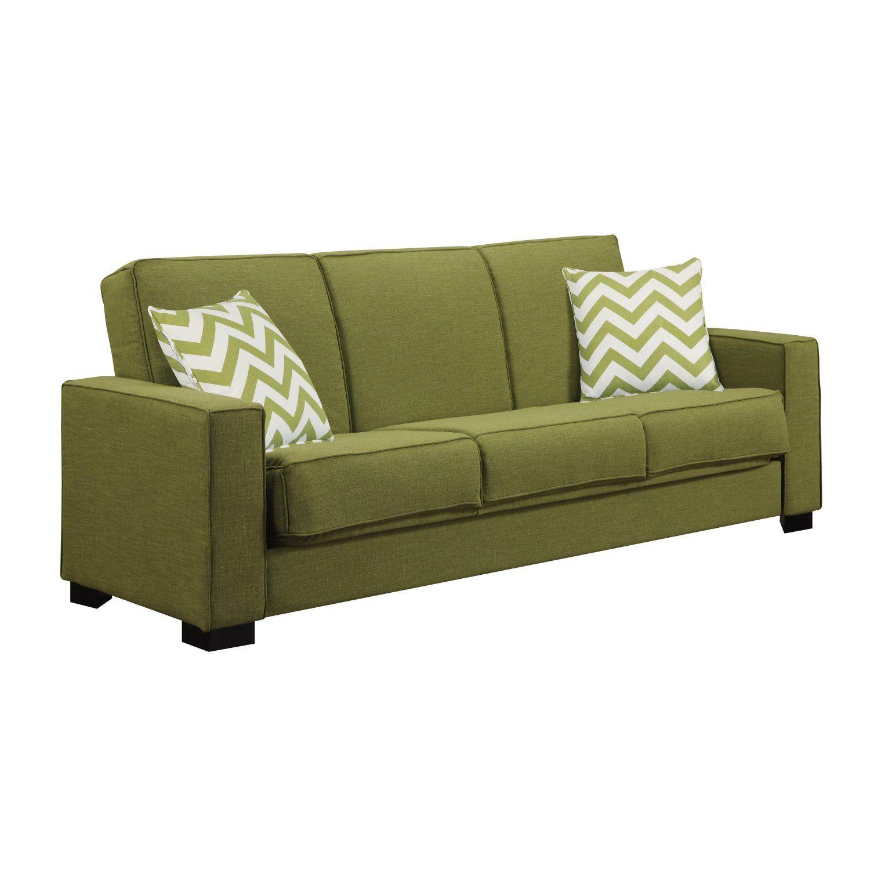Light Brown Leather Sleeper Sofa