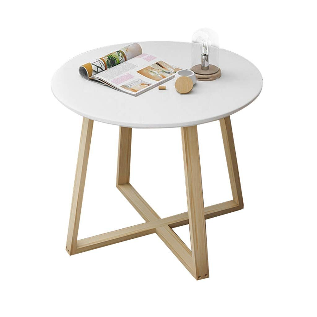 Solid Wood Coffee Table Nordic Style Living Room Small Round