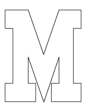 letter m pattern use the printable outline for crafts creating stencils scrapbooking