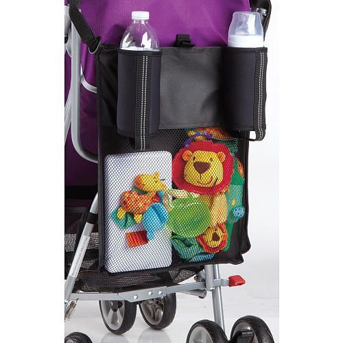 c4a40ec80c Keep all of your little one's essentials close at hand with this Stroller  Organizer Bag from Babies'R'Us. The large, mesh storage bag attaches to the  back ...