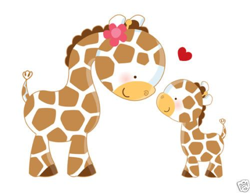 Safari giraffe wall art mural wall decals baby nursery for Baby jungle mural