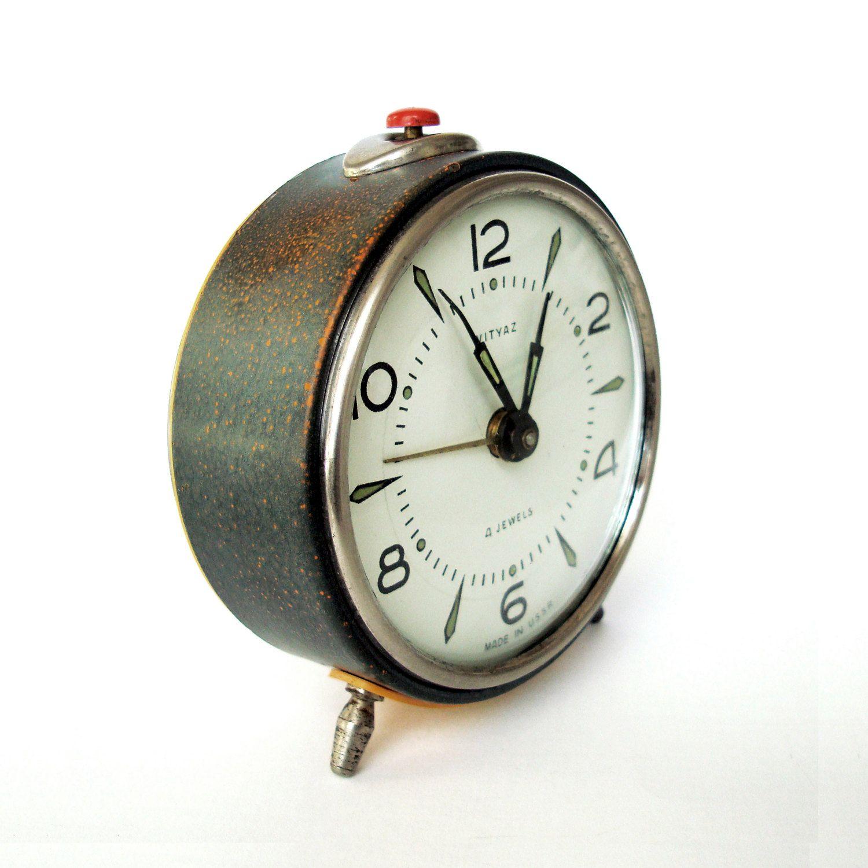 Vintage Alarm Clock Vityaz 4 Jewel Made In Ussr Vintage Alarm