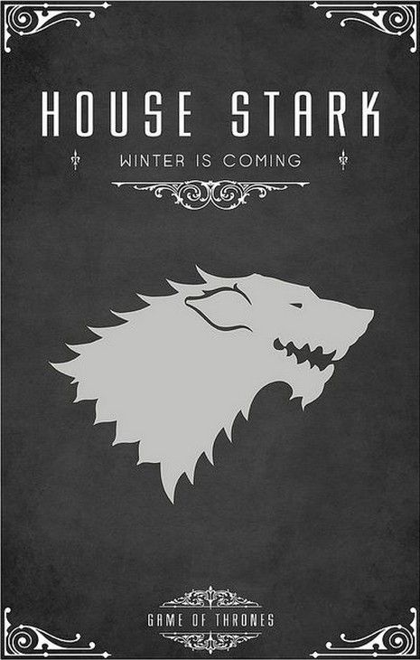 The Full Game Of Thrones Family Crest Line Up Im Dreaming Of A