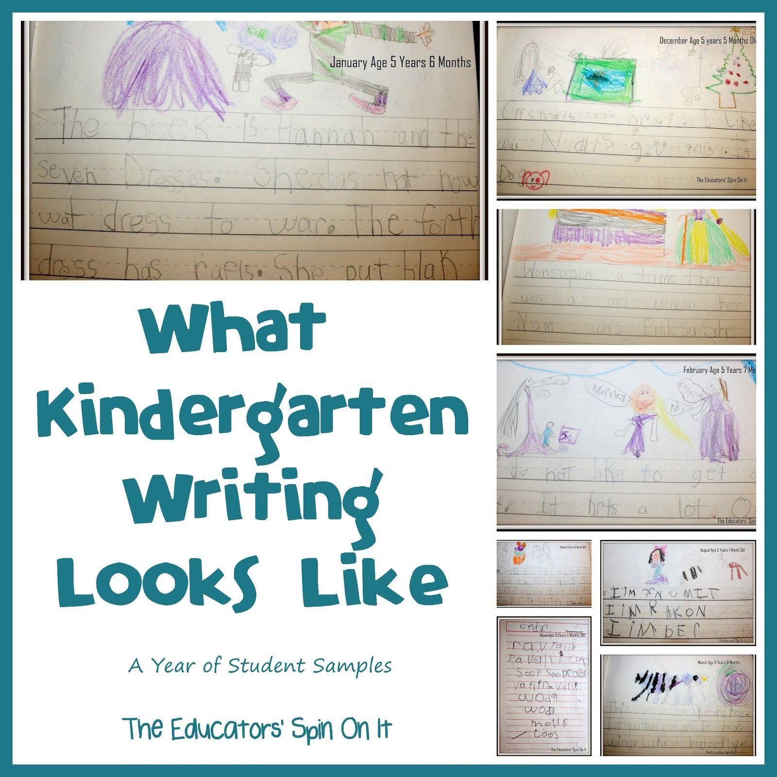 Kindergarten creative writing