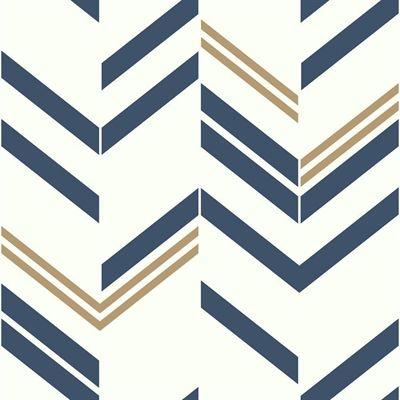 Roommates Wallpaper Rmk9002wp Blue Chevron Peel And Stick Peel And Stick Wallpaper Wallpaper Roll Geometric Wallpaper
