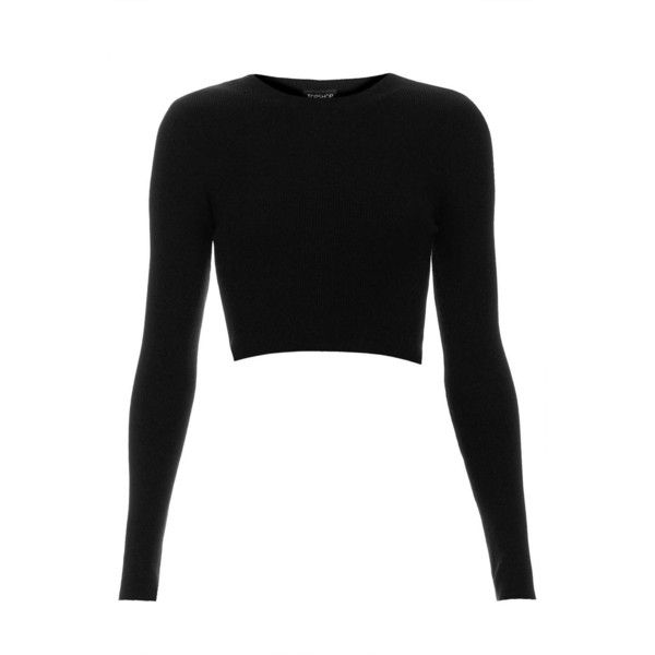8fc6ddb881091d TOPSHOP Rib Crop Top ($15) ❤ liked on Polyvore featuring tops, crop tops