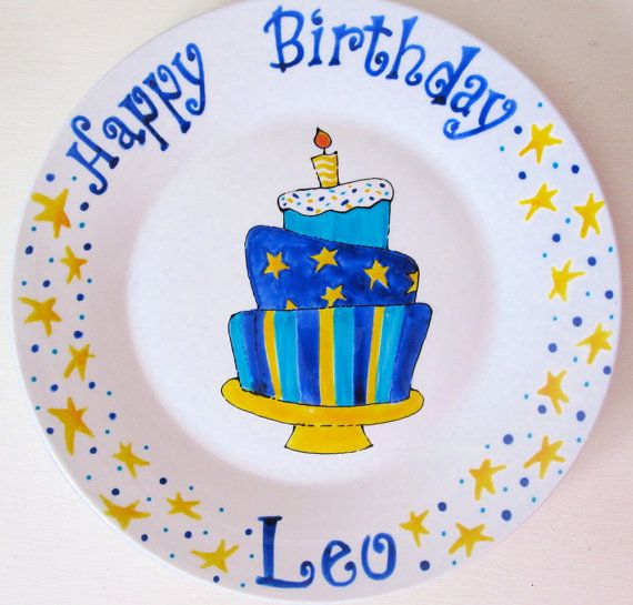 Personalized Birthday Plate Birthday Plate for by AnnasWhimsies $30.00  sc 1 st  Pinterest & Personalized Birthday Plate Birthday Plate for by AnnasWhimsies ...
