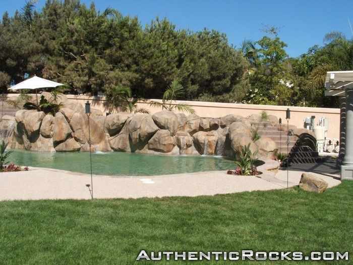 Artificial Rock Waterfalls: landscapes & swimming pools