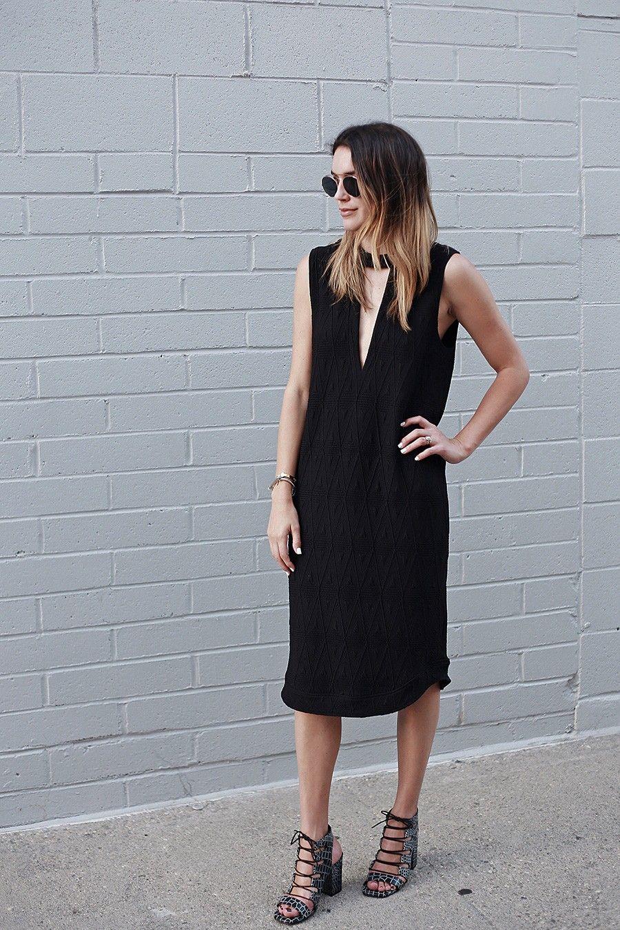Shift Dress and Lace Ups   Black shift dresses, Senso and Block heels