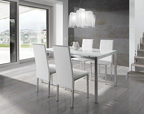 conjunto de mesa y sillas blanco, http://www.amazon.es/dp