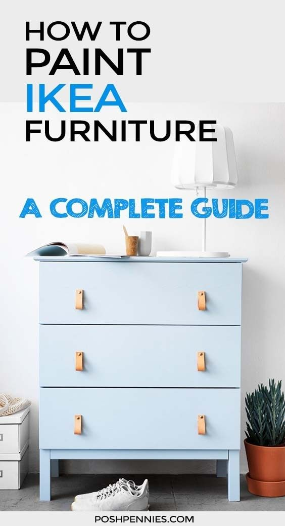 How To Paint IKEA Furniture (laminate, solid wood