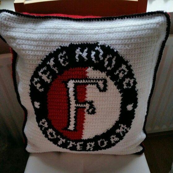 Feyenoord Pixel Kussen Feyenoord Haken Pinterest