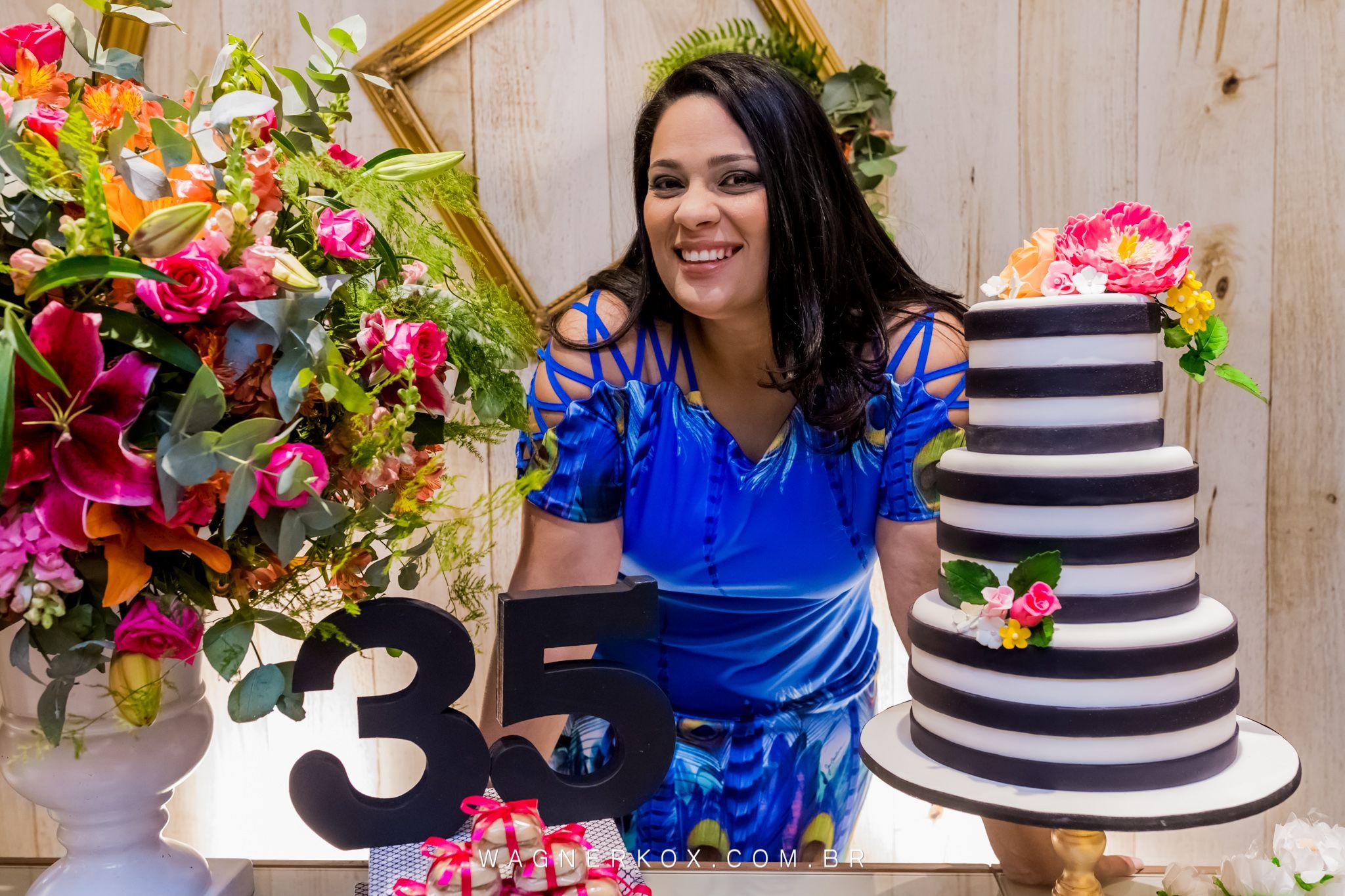 35 Anos Da Luciana Com Imagens Aniversario Festa Preto E